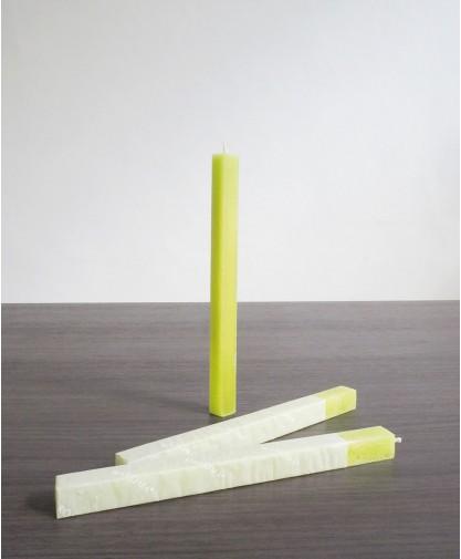 Lemongrass Square Taper Candle