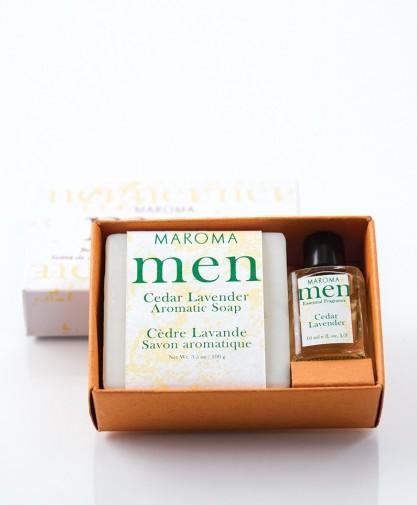 Cedar Lavender Soap & fragrance set