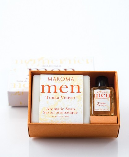 Tonka Vetiver Soap & fragrance set