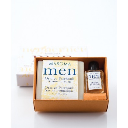 Orange Patchouli Soap & fragrance set